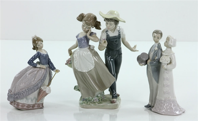 Lot of 3 Lladro Figurines