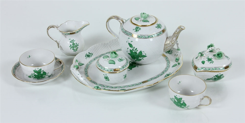 Herend Hungary Porcelain Tea Set