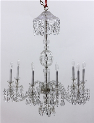 Crystal Eight Branch Chandelier