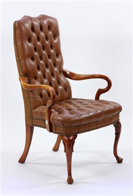 Chesterfield Style Leather Armchair