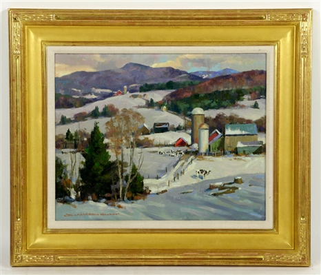 "Mosher, ""Mount Mansfield Farm, Vermont,"" Oil on Canvas"