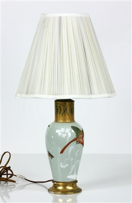 19th C. French Pate Sur Pate Lamp