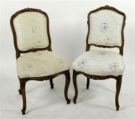 Pr. Italian Style Carved Chairs