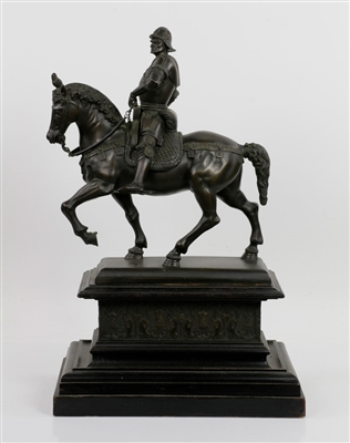 Roman Centurion Bronze Man on Horseback