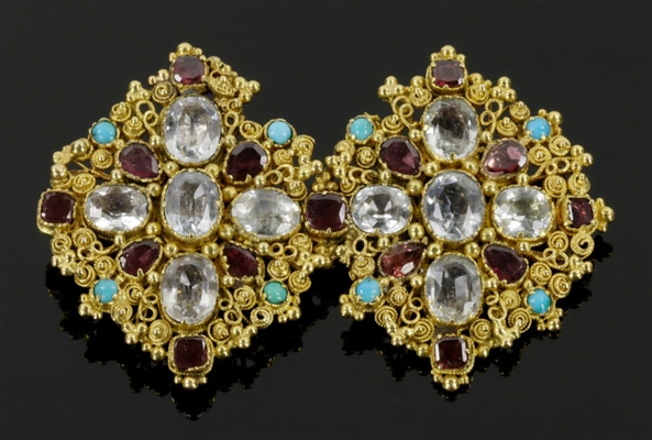 Early English 18k Brooch w/ Amethyst
