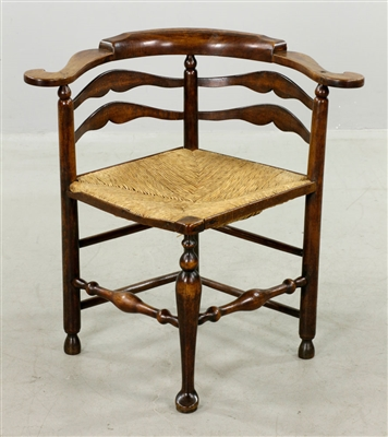 Rare Important Yew Wood English Sword Chair