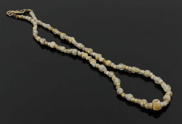 Ancient Roman Glass Strand of Beads, 19""