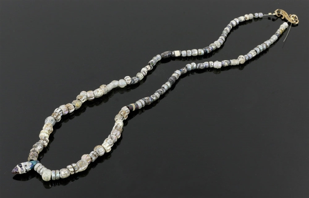 Ancient Roman Glass Strand of Beads, 20""