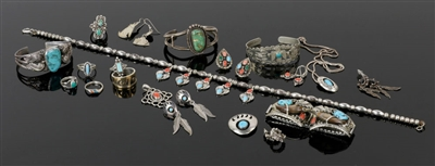 Collection of Southwest Sterling Jewelry