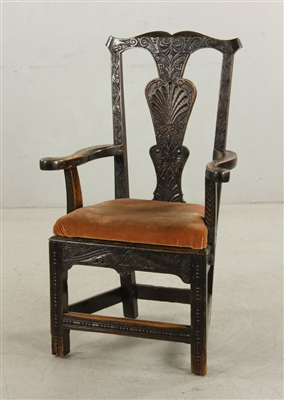 18th to 19th C. English Wainscot Armchair