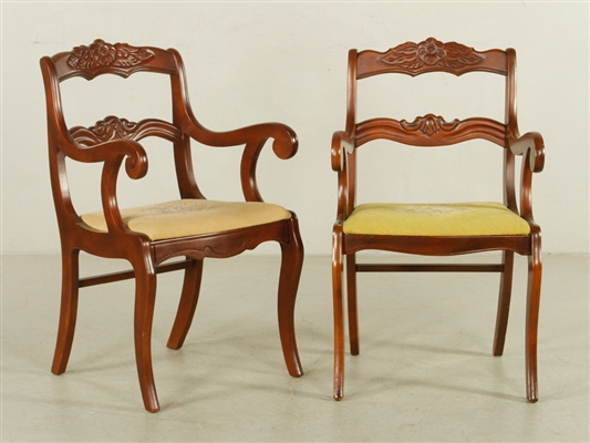 Pr. Victorian Style Armchairs