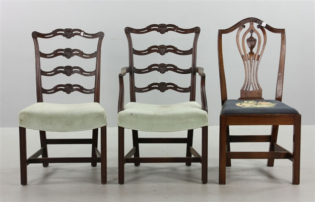 Lot of 3 Federal Style Dining Chairs