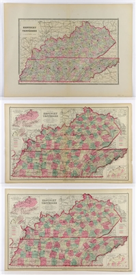 3 Maps, 1800s, Grays Kentucky and Tennessee