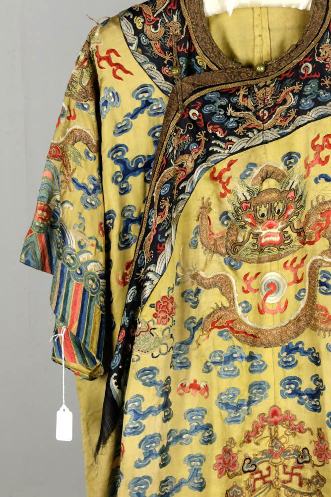 Lot Detail Late 19th C Asian Silk Dragon Kimono