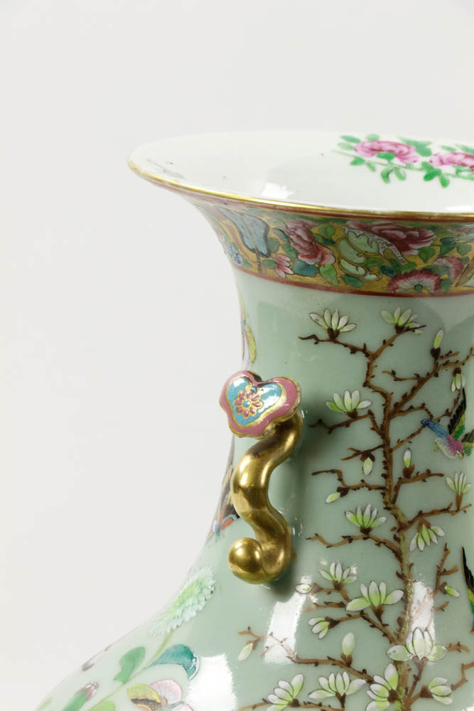 Lot Detail Pr Of Late 19th C Chinese Famille Rose Vases W
