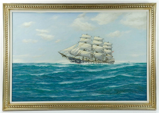 J. Arnold, USS Constitution, oil on canvas