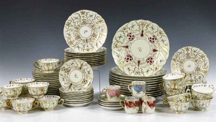 Austrian China Dinner Set, (74) pcs