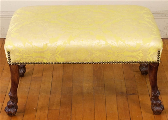 Early 19th C. Upholstered Footstool