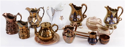 Collection of 19th C. English Copper Lustre