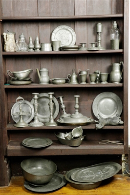 Large Collection of Pewter