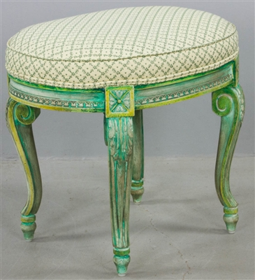 French Louis XVI-Style Upholstered Stool
