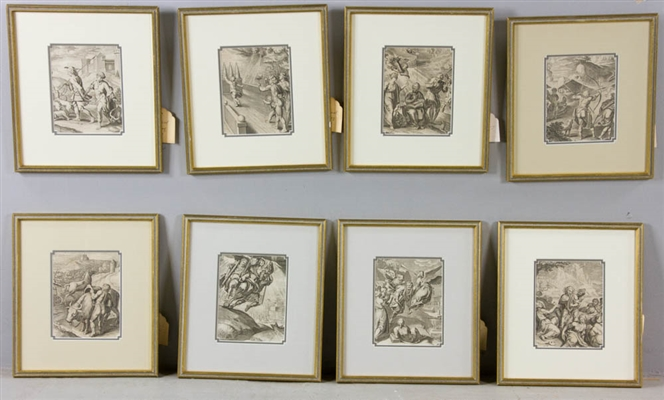 Lot of (8) 17th/18th C. Engravings, Framed