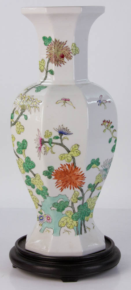 Lot Detail Chinese Ceramic Vase On Stand