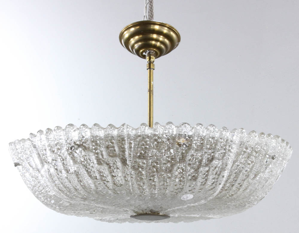 Lot Detail Mid Century Glass Ceiling Light Fixture