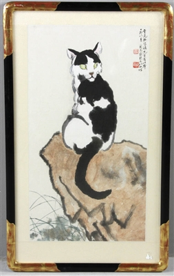 Chinese Cat Painting Watercolor