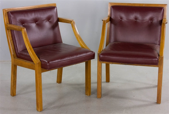 Pair of Labeled Dunbar Armchairs