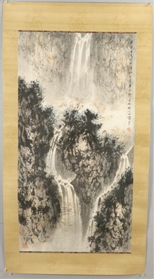 Chinese Watercolor on Paper, Landscape