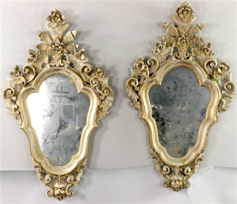 Pair of Antique Continental Mirrors