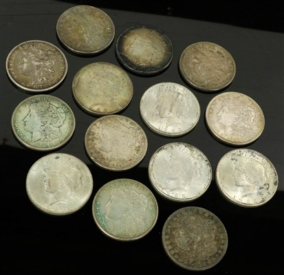 Collection of (14) US Silver Dollars