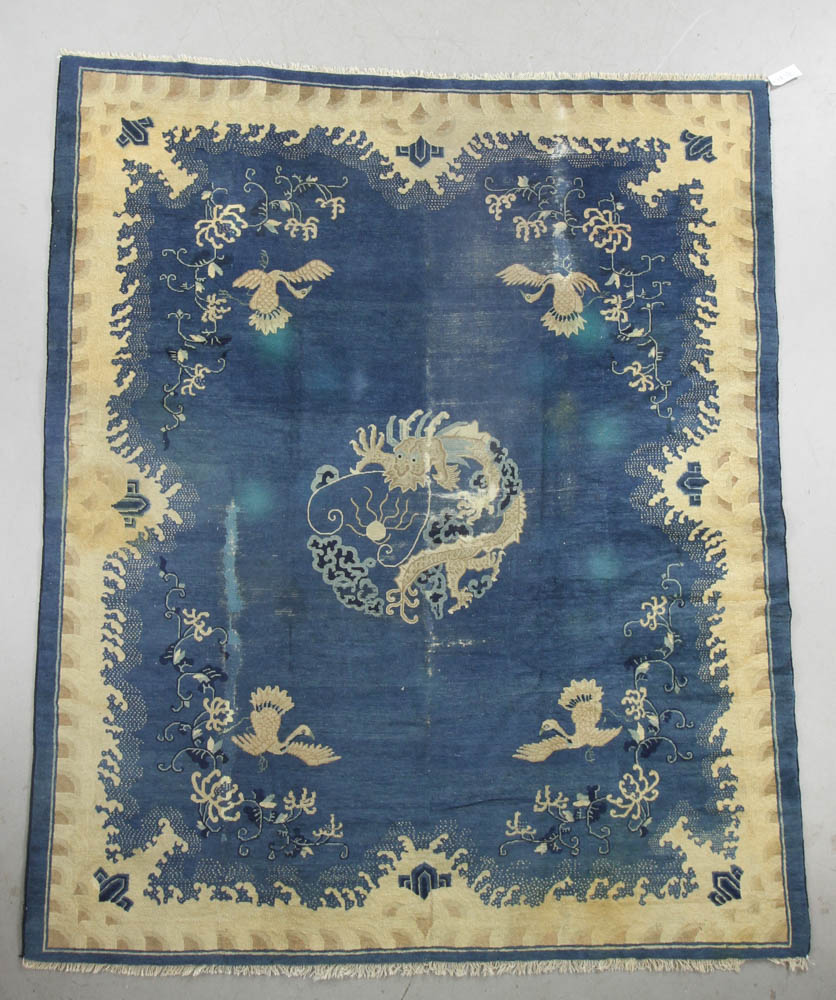 Antique Chinese Rug: Antique Imperial Chinese Rug