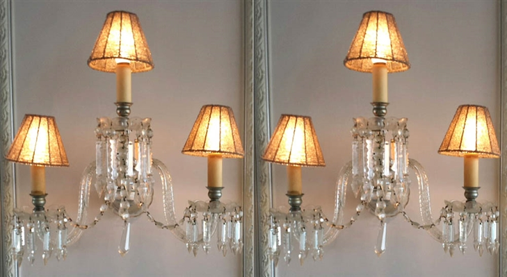 Vintage Crystal Wall Sconces