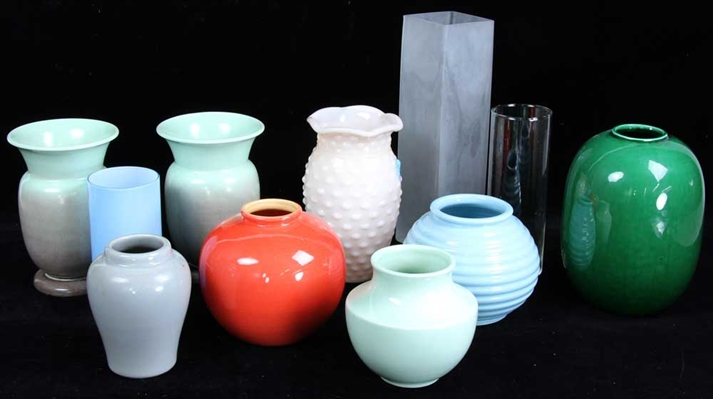 Group of Glass and Ceramic Vases