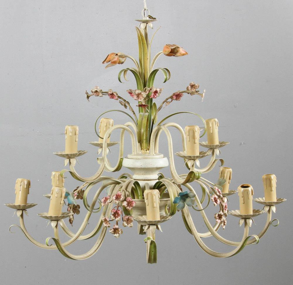 Lot detail venetian style tole chandelier venetian style tole chandelier venetian style tole chandelier aloadofball Image collections