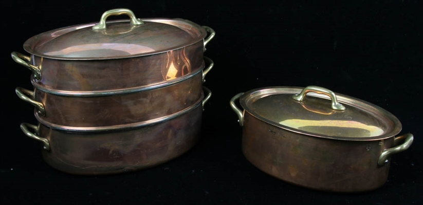 French Copper Cooking Pots
