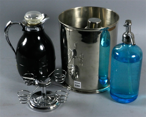 Miscellaneous Chrome and Glass Items