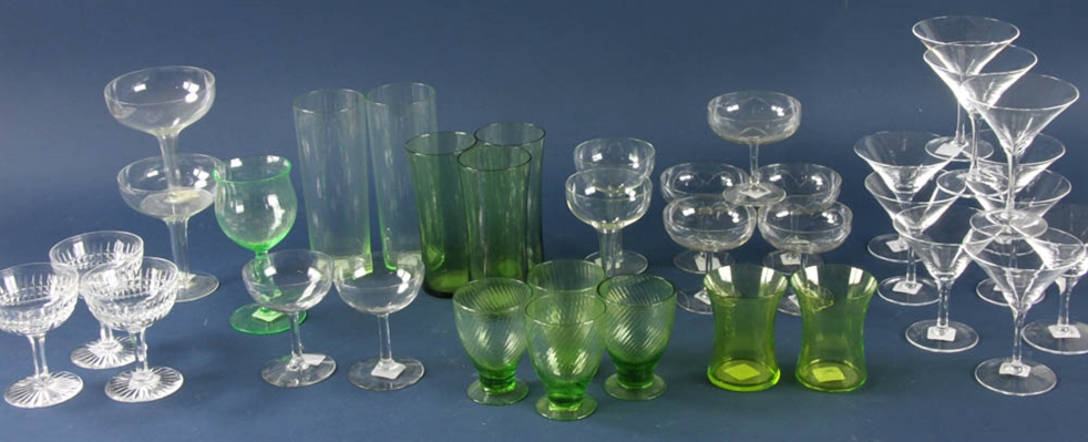 Group of Wine and Water Glasses
