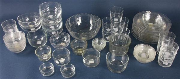 Group of Colorless Glass Bowls