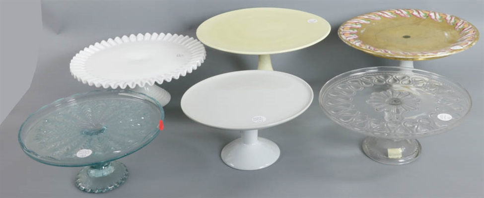 Group of Six Cake Stands