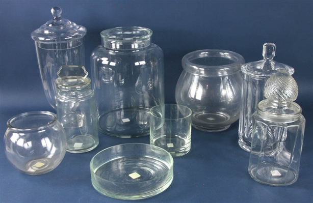 Collection of Candy Store Jars, Bowls