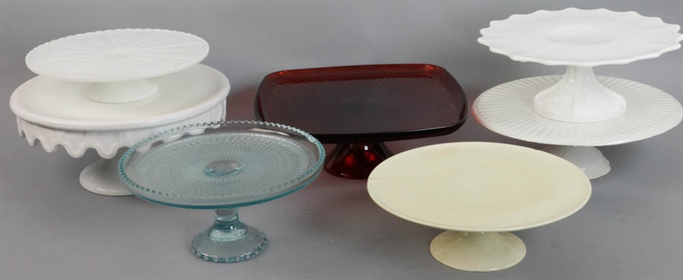Group of Seven Assorted Cake Stands