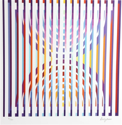 Yaacov Agam Numbered Colored Print