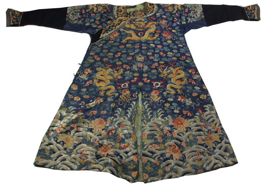 874f3639975bf Lot Detail - 19th C Chinese Embroidered Imperial Robe