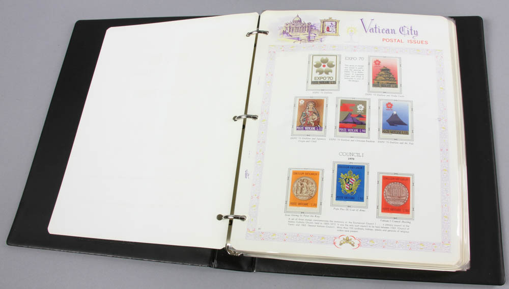 Lot Detail - White Ace Vatican City Stamp Albums