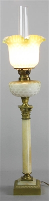 Victorian Banquet Lamp with Shade