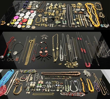 Large Collection Goldfilled and Costume Jewelry