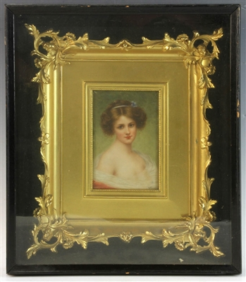 KPM Porcelain Plaque of Young Girl